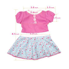 Amazoncom AOFUL Baby Doll Dress Clothes Custom Design Flower