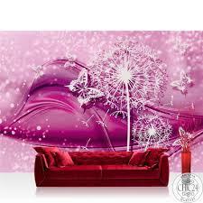vlies fototapete no 2056 ornamente tapete blume pusteblume schmetterling linien pink