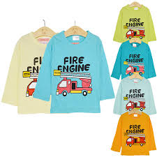 Fire Truck Cotton Air Conditioning Shirt Female Baby Boy Long ...