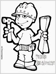 Contruction Worker Job Color Page Family People Jobs Coloring Pages Plate Sheetprintable Picture