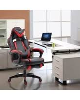 Reclining Gaming Chair With Footrest by Deals On Racing Style Leather Gaming Chair High Back Ergonomic