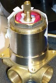 aquasource shower how does flow control cartridge gear inside