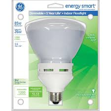 shop ge 85w equivalent dimmable soft white br40 cfl light bulb at