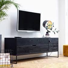 tv kommode sera holz metall schwarz