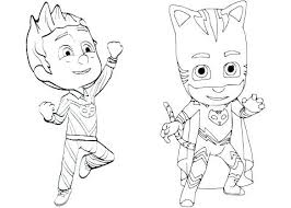 Coloring Pages Of Masks Mask Page To See Pj Gekko Free Color