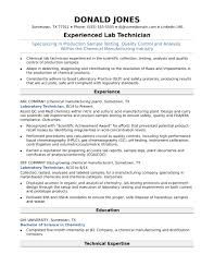Lab Tech Resume