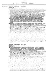 Business Development Executive Resume Samples