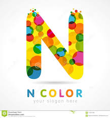 Alphabet Letter N Uppercase Rainbow Font Made Of Bright Soap Bubble