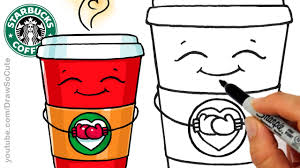 How To Draw A Hot Starbucks Drink Step By Easy And Cute