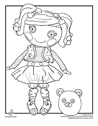 Lalaloopsy Doll Coloring Pages Mittens Fluff N Stuff Page Cartoon Jr
