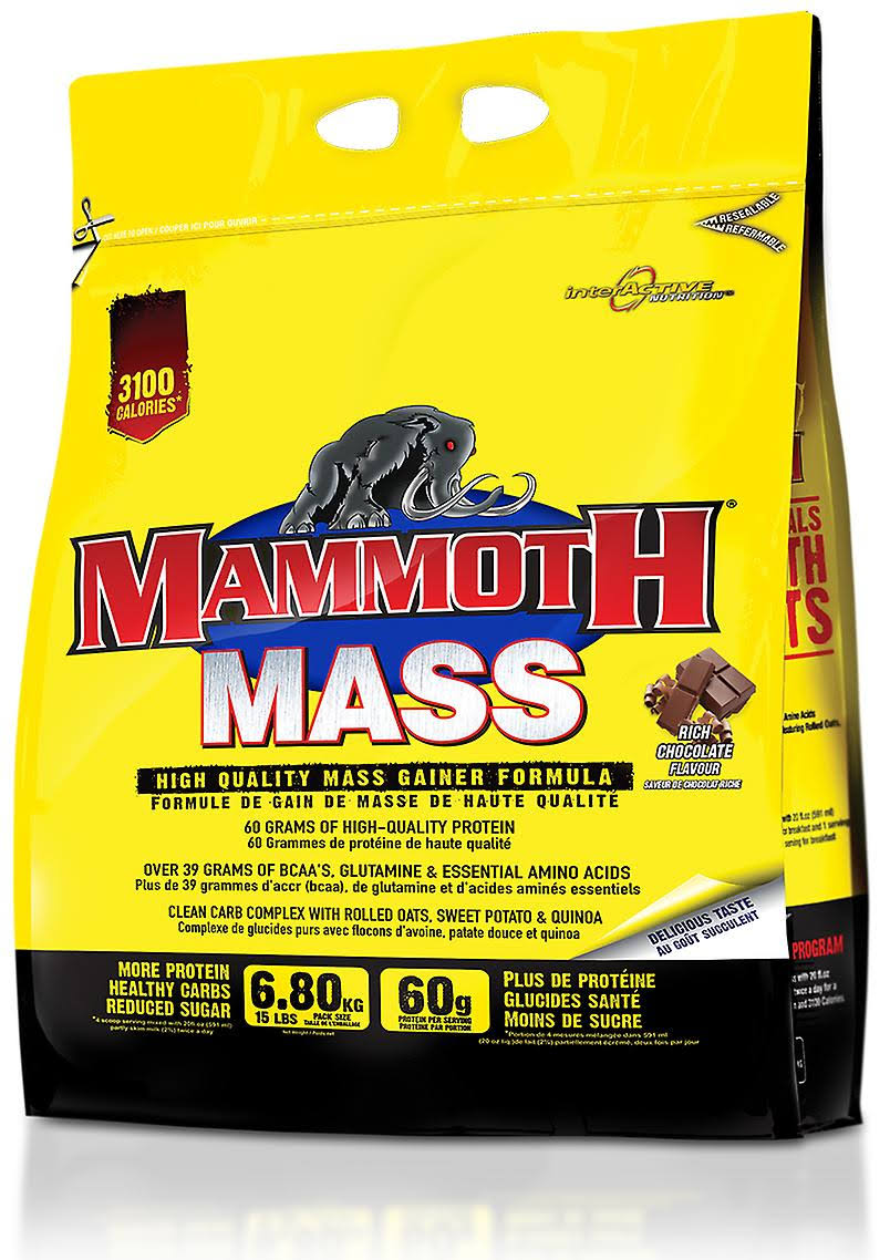 Mammoth Mass Gainer Formula - Chocolate, 15lb