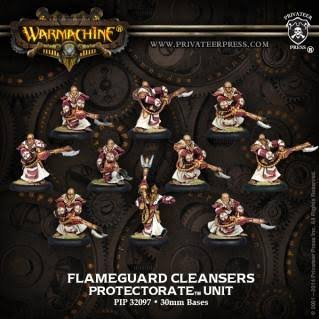 Privateer Press Pip32097 Warmachine Protectorate of Menoth Flameguard Cleansers Unit