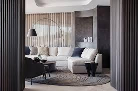 elegantes wohnzimmer mit polstergarnitur bild kaufen