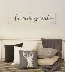 Be Our Guest Sign Rustic Home Decor Room Wood Signs