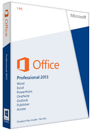Microsoft fice 2013 Professional Product Key Card