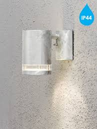 konstsmide modena ip44 1 light outdoor wall light galvanised