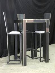 table de cuisine avec tabouret cuisine avec table haute table haute cuisine pas cher