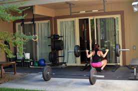 Trendy Home Gym Ideas Small Space From Original Garage With Enjoying A Beutiful Day