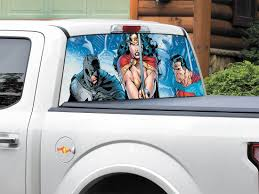 Product: Batman Superman Wonder Woman DC Comics Rear Window Decal ... Duck Rear Window Graphic Realtree Max5 Camo Camouflage Decals Jdm Tuner Window Decal Stickers For Your Car Or Truck Youtube Truck Graphics My Lifted Trucks Ideas Vehicle Lettering Osage Beach Mo Funny Catherine M Johnson Homes Modification Vinyl Lab Nw Sign Company From A1 Pro Tint American Flag Prairie Gold Stone Black And White Thking Of Installing In Denver Co Read This Back Walldevil Chrome Sports Car Custom Metal Mulisha Skull Circle X22 Decal