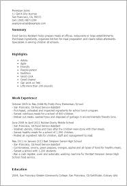 professional food service assistant templates to showcase your