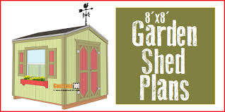 garden shed plans 8 x8 pdf download construct101