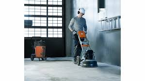 husqvarna construction products pg 450 grinder in concrete