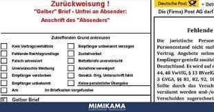 Zurückweisung Gelber Briefe Reichsbürger Und Ihre