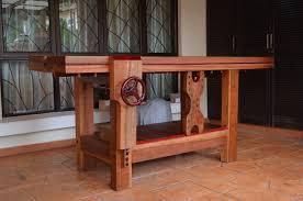 sam u0027s tropical wood roubo workbench the wood whisperer