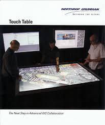 Northrop Grumman Employee Help Desk by Defense Review Northrop Grumman Touchtable Zebra Imaging 3d