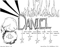 Daniel Bible Coloring Book Page