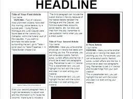 School Newspaper Templates Free Documents Article Layout Template Writing Abefa514e61a7d