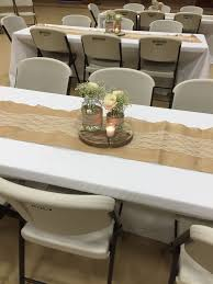 Rustic Bridal Shower Table Centerpiece