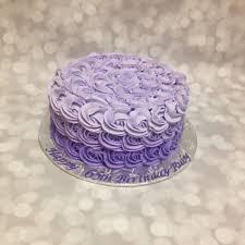 Purple Ombre Rose 1 Tier Birthday Cake