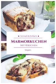 marmokuchen mit kirschen sauerkirschen weichseln in der
