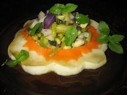 cuisiner le patisson blanc salade de pâtisson et de petits légumes cuisine