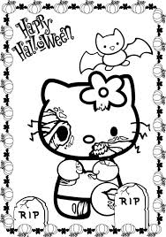 Halloween Coloring Pages Scary Cats Hallowen Of Sdj Car Page