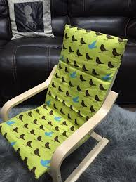 Ikea Glider Chair Poang by Ikea Cushion Cover For Poang Finnsta Gray Chair Not Included Kids