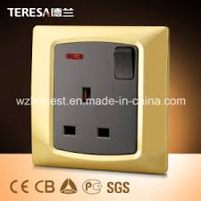 china 1 13a socket wall switch socket with led indicator