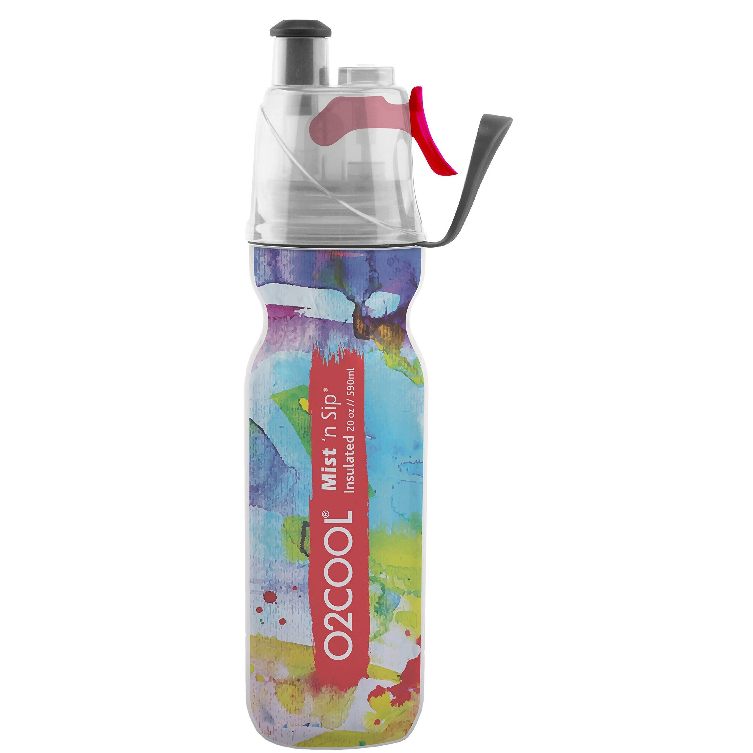 O2cool Arcticsqueeze Insulated Mist 'N Sip Squeeze Bottle - 20oz, Watercolor 3