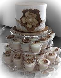 Burlap Wedding Cupcakes Lace Rustic Cake S And