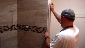 Tiling Inside Corners Wall by Install Shower Tile Edging Trim Quick And Easy Youtube