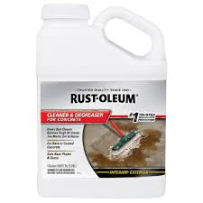 Drylok Concrete Floor Paint Sds by Rust Oleum 1 Gal And Degreaser 4 Pack 301243 The Home