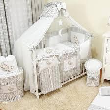 baby luxus kinderbetten 120x60 holz gitterbett babybett kinderbettset grau komplett set inklusive