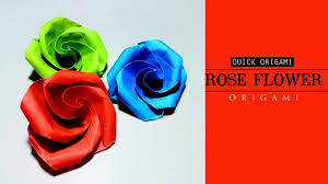 How To Make Easy And Simple Paper Rose Flower For Kids Origami