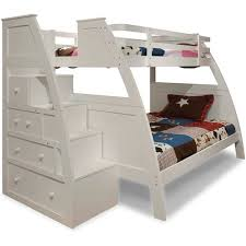 canwood overland twin over full bunk bed with built in stair