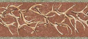 Image Is Loading WESTERN DEER ANTLERS Country Wallpaper Border TA39018B