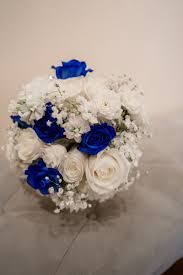 Royal Blue Cobalt Silver And White Wedding Flowers By Chickabloom Floral Studio