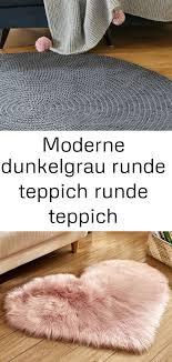 moderner dunkelgrauer runder teppich runder teppich