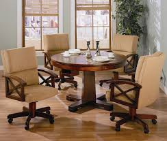 Dinette Sets With Roller Chairs by Furniture Amazing Dining Table Rollers Kitchen Chairs With