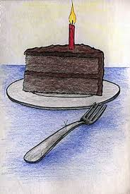 Birthday Cake Colored Pencil 5 4x8 0in March 14 1991 More Info